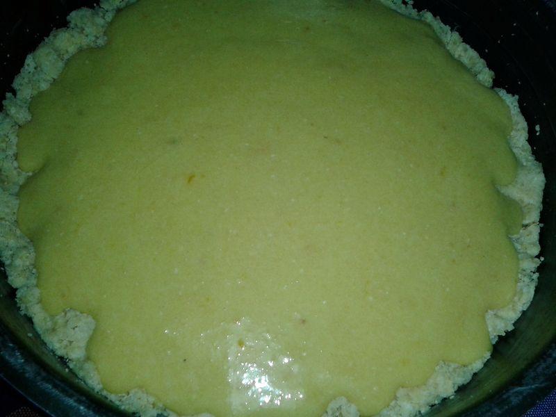 Torta croccante con crema alle mandorle e cioccolato - teglia3