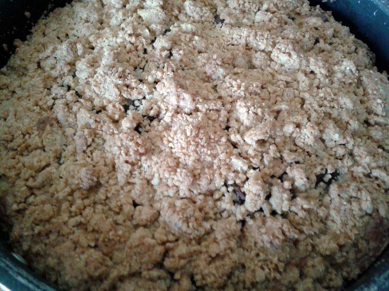 Torta croccante con crema alle mandorle e cioccolato - torta cottura